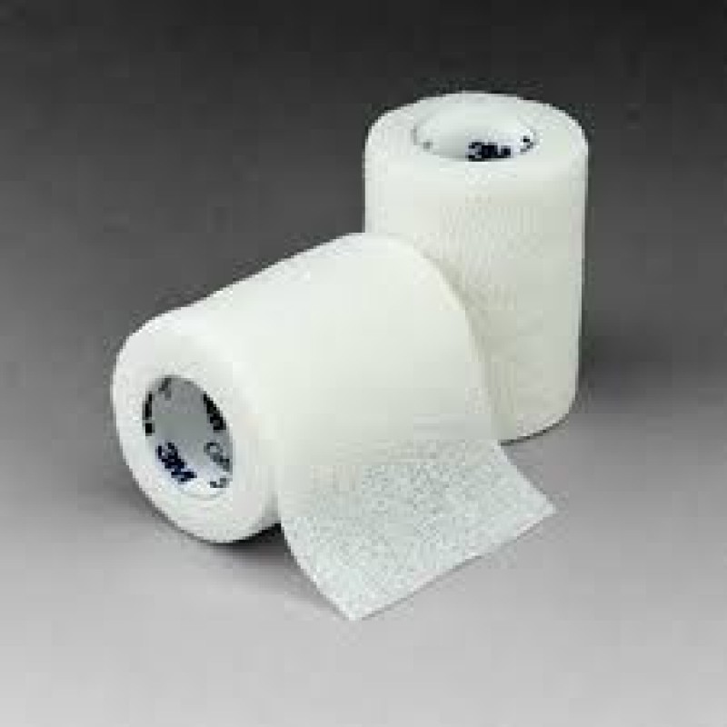 3M 1583W - 3M Coban Self-Adherent Wrap 1583W, 3 inch x 5 yard (fully stretched) (75mm x 4,5m), White, BX/24