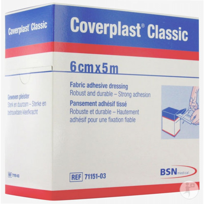 BSN Medical 7115103 - Elastoplast Coverplast Dressing STRIP 6 cm x 5 m, ROLL