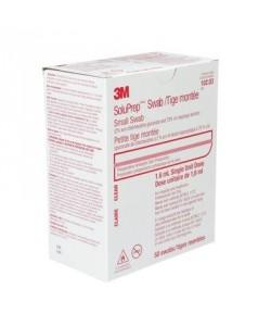 3M 10203 - SoluPrep  Swabsticks 2% CHG 70% ISO Alc, Clear Solution , BOX/50EA., BX/50