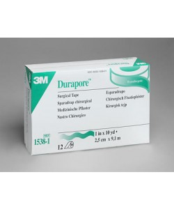 3M™ Durapore™ Tape 1 inch x 10 yard (2,5cm x 9,14m) Silk-like, hypoallergenic tape, standard roll