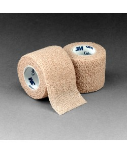 3M 1582 - 3M Coban Self-Adherent Wrap 1582, 2 inch x 5 yard (fully stretched) (50mm x 4,5m), Tan, CS 36