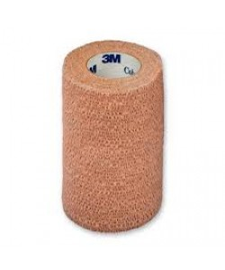 3M 1584 - 3M Coban Self-Adherent Wrap 1584, 4 inch x 5 yard (fully stretched) (100mm x 4,5m), Tan, BX 24