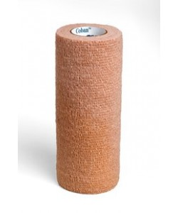 3M 1586 - 3M Coban Self-Adherent Wrap 1586, 6 inch x 5 yard (fully stretched) (150mm x 4,5m) Self-Adherent Wrap, Tan, EA