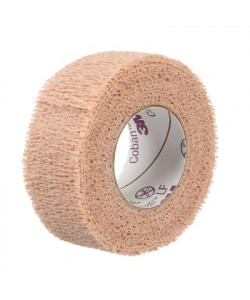 3M 2081 - Coban Self-Adherent Wrap with Hand Tear, Non Sterile, Latex Free, 1 inch width x 5 yards (fully stretched), CS 30