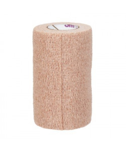 3M 2084 - Coban Self-Adherent Wrap with Hand Tear, Non Sterile, Latex Free, 4 inch width x 5 yards (fully stretched), CS 18