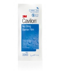 3M 3343 - CAVILON No Sting Barrier Foam Swab, Small, 1ml., BX 25