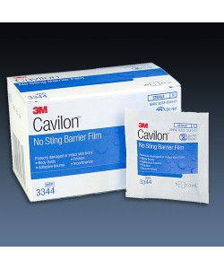 3M 3344 - Cavilon No-Sting Barrier Film Wipes, 1ml Wipe, Alcohol-Free, BX 30
