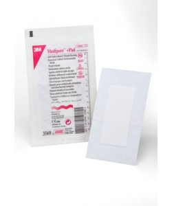 3M 3569 - 3M Medipore +Pad Soft Cloth Adhesive Wound Dressing 3569, Dressing size 3-1/2 inch x 6 inch (9cm x 15cm), Pad size 1-3/4 inch x 4 inch, BX 25