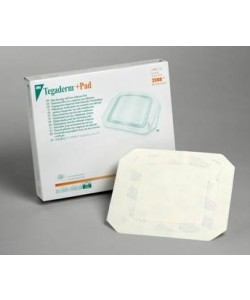 3M™ Tegaderm™ +Pad Film Dressing with Non-Adherent Pad 3586, Dressing size 3-1/2 inch x 4 inch (9cm x 10cm), Pad size 1-3/4 inch x 2-3/8 inch