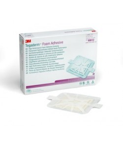 3M 90612 - TEGADERM Foam Adhesive Dressing. 10cm X 10cm, Square., BX 10