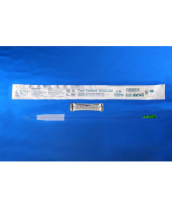 Hydrophilic male 14 French coude catheter