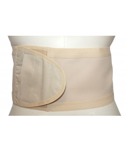 SecureWear Hernia/Ostomy Support Belt, Beige, No Hole, 6 in width, Size: M (36.5 to 41.25 inches)