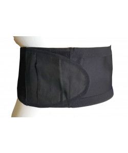 SecureWear Hernia/Ostomy Support Belt, Black, No Hole, 6 in width, Size: M (36.5 to 41.25 inches)