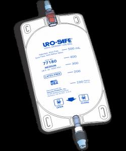 Uro-Safe Vinyl Leg Bag, Med, 18 oz with Twist Drain, White