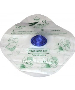 CPR Face Shield Bio Barrier, One Way Valve with Filter/Port in Ziploc,Disposable
