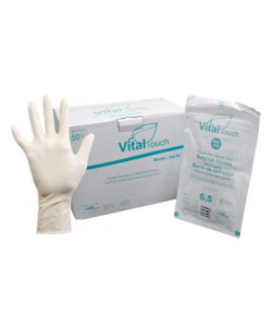 AMD-Ritmed 1141-8.5 - Vital Touch Latex Sterile Surgical Gloves, Powder-Free, Size 8.5, BX 50