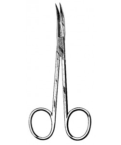 "Iris Scissors, Stainless Steel, 3 1/2"" Curved, Floor-Grade, Non-Sterile"