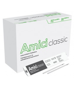 "Amici 3608 - AMICI Classic 7"" Female Intermittent Catheters, 8 Fr.,  Latex Free, DEHP & BpA Free PVC, No Adapter., BX 100"