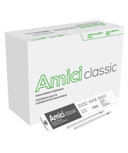 "AMICI Classic 6"" Female Intermittent Catheters, 10 Fr.,  Latex Free, DEHP & BpA Free PVC, No Adapter."