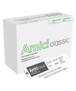 "AMICI Classic 6"" Female Intermittent Catheters, 16 Fr.,  Latex Free, DEHP & BpA Free PVC, No Adapter."