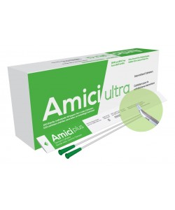 "Amici 7714 - AMICI Ultra 16"" 14 Fr. Tiemann Intermittent Catheters, Fire-Polished eyelets, Latex Free, DEHP & BpA Free PVC, BX 100"