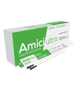 "Amici 7910 - AMICI Ultra 16"" Male Nelaton Intermittent Catheters, 10 Fr., Fire-Polished eyelets, Latex Free, DEHP & BpA Free PVC, BX 100"