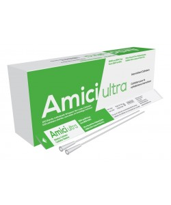 "Amici 7912 - AMICI Ultra 16"" Male Nelaton Intermittent Catheters, 12 Fr., Fire-Polished eyelets, Latex Free, DEHP & BpA Free PVC, BX 100"