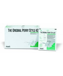 Ansell 5711104 - The Original Perry Style Gloves 42 Latex, Powdered Surgical Gloves, Sterile, Size 7.5, BX 50 PAIR