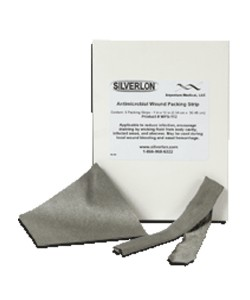 Argentum Medical WPS-124 - SILVERLON Packing Strip, Impregnated, 1 X 24 Inches, Silver Nylon Wound, Burn, Surgical & Negative Pressure Dressing, Box of 5, BX 5