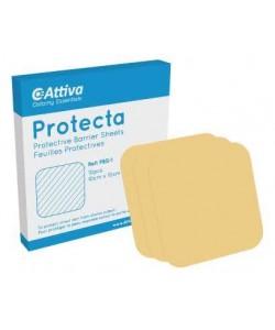 Attiva Ostomy Essentials PBS-1 - Attiva Ostomy Essentials PROTECTA Barrier Sheets, 10cm x 10cm, BX 10