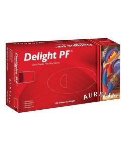 Aurelia 38228 - Aurelia Delight PF Vinyl Powder-Free Clear Exam Gloves, Large, BX 100