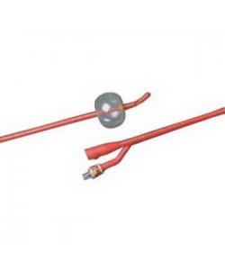 Bard 0102L14 - BARDEX Lubricath, 14Fr, 5cc Coude Red Latex Cath, Hydrogel Coating(TiemannStyle), BOX 12