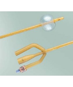Bard 0102SI14 - BARDEX Foley Catheter, Infection Control, 2-Way CoudeTiemann 14 Fr 5cc, BX 12