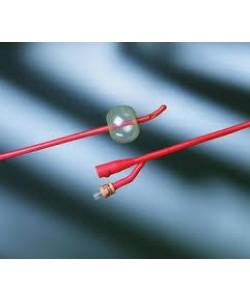 Bard 0103L18 - BARDEX Lubricath,18Fr,30cc Coude Red Latex Cath,Hydrogel Coating(Tiemann 2-Way), BX 12