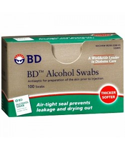 BD 326910 - BD Alcohol Swabs (Box of 100), CASE 12