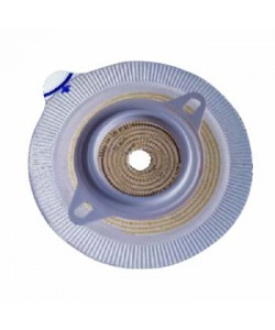 "Assura® 2 pc. Extra-Extended Wear Skin Barrier w/ Flange, Pre-Cut, Non-Convex, Blue 1 3/4"" (45mm)"