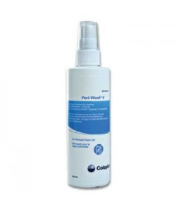 Coloplast 1485 - Peri-Wash II, Benzethonium Chloride Antiseptic No-Rinse Cleanser 250ml, CS 12