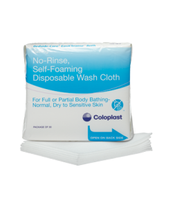 Coloplast 7056 - Bedside Care Easicleanse Self Foaming Disposable Washcloth, Latex Free, PK/5
