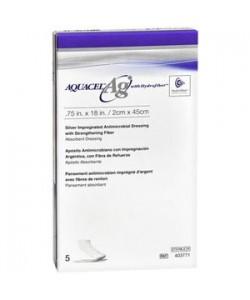 ConvaTec 403711 - AQUACEL-AG,  20cm X 30cm  antimicrobial  wound dressing, with hydrofiber, BX 5