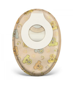 "Esteem synergy® Little Ones® Closed-End Pouch with Filter, Opaque, for stoma sizes 4.8mm to 32mm (3/16"" to 1 1/4"")"