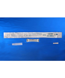Hydrophilic male 12 French catheter