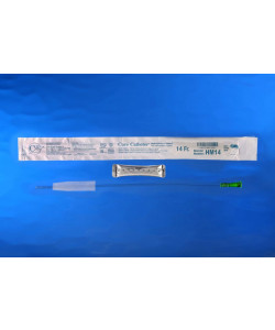 Hydrophilic male 14 French catheter