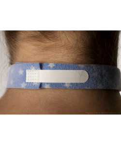 "Dale 241 - PediPrints Tracheostomy Tube Holder 1"" Wide band, fits up to 18"" neck, BX 10"