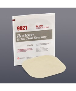 "RESTORE Extra Thin Dressing 4x4"", Sterile (New # 519921)"