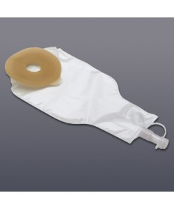 Drainable Fecal Collector, Med. Size, Flextend Tapered Skin Barrier