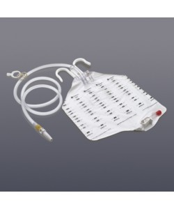"Bedside Drainage Bag, 2000 cc., Sample Port, Anti-reflux Valve,48"" Tubing."