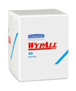 "Kimberly-Clark 41083 - Kimberly-Clark WYPALL X60 Teri Hygienic Washcloths, 12.5"" x 10""L, White, 70/PKG,CS/8PKG., CS 8pk"