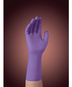 "Kimberly-Clark KC500 Purple Nitrile Exam Gloves, 12"" Long, Powder Free, X Small"