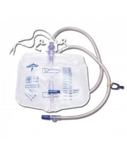 "Medline DYND15207 - Medline 2000ml DrainBag, anti-Reflux, Sample Port,50""Tube, sheet Clip, reinforced double hanger, Slide Valve.CS, CS 20"