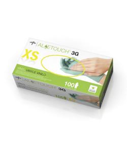 Medline MDS195173 - MEDLINE Aloetouch 3G Exam Gloves, Powder Free, Stretch Vinyl, Non Sterile, Extra Small, BX/100